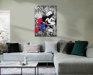 """Mickey Mouse """"Glücklich von Kathleen Artist Fine Art"""