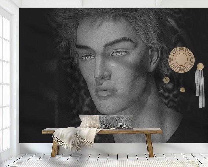 Sfeerimpressie behang: Roel van emiel schalck