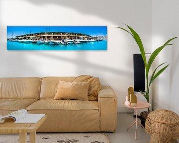 Panorama uitzicht op Port Adriano, El Toro, Mallorca van Alex Winter