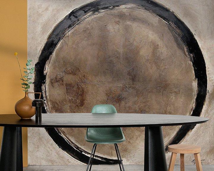 Sfeerimpressie behang: Cirkel (gezien bij vtwonen) van Pieter Hogenbirk
