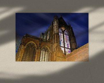 Domkerk in Utrecht gezien vanaf het Domplein von Donker Utrecht