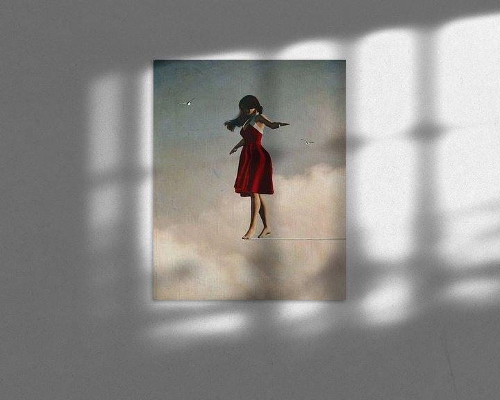 Sfeerimpressie: Meisje wandelt in de wolken van Jan Keteleer