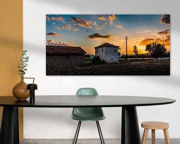 Zonsondergang over Şuhut van Roland's Foto's