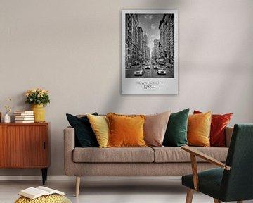 In beeld: NEW YORK CITY 5th Avenue verkeer van Melanie Viola