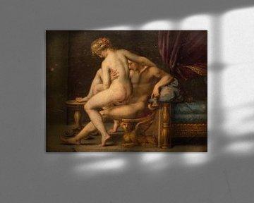 Naaktheid met man en vrouw, Agostino Carracci