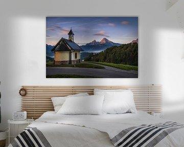 Die Kirchleitn Kapelle über Berchtesgaden von Steffen Peters