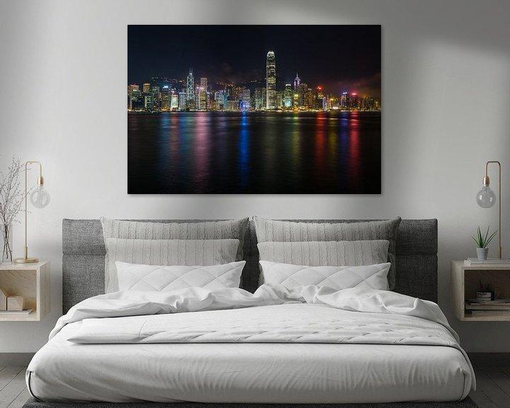 Beispiel: Skyline von Hongkong von Shanti Hesse