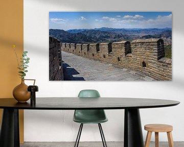 Wandelen op de Grote Muur van China van Shanti Hesse