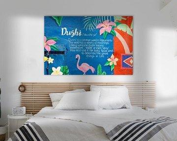 Muurschildering Dushi Curacao van Keesnan Dogger Fotografie