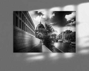 Kathedraal van Berlijn zwart-wit van Frank Andree