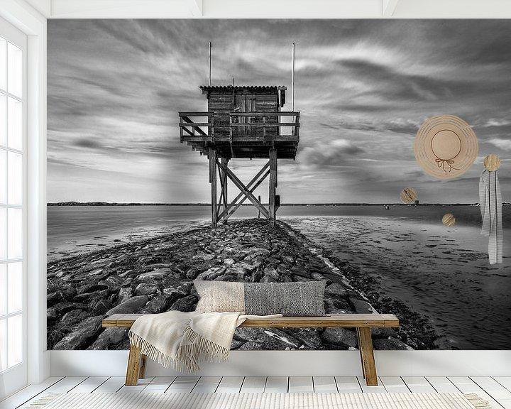 Sfeerimpressie behang: Duikplaats Scharendijke Grevenlingenmeer van Rob van der Teen
