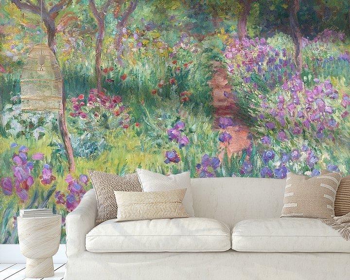 Sfeerimpressie behang: De tuin van de kunstenaar in Giverny, Claude Monet