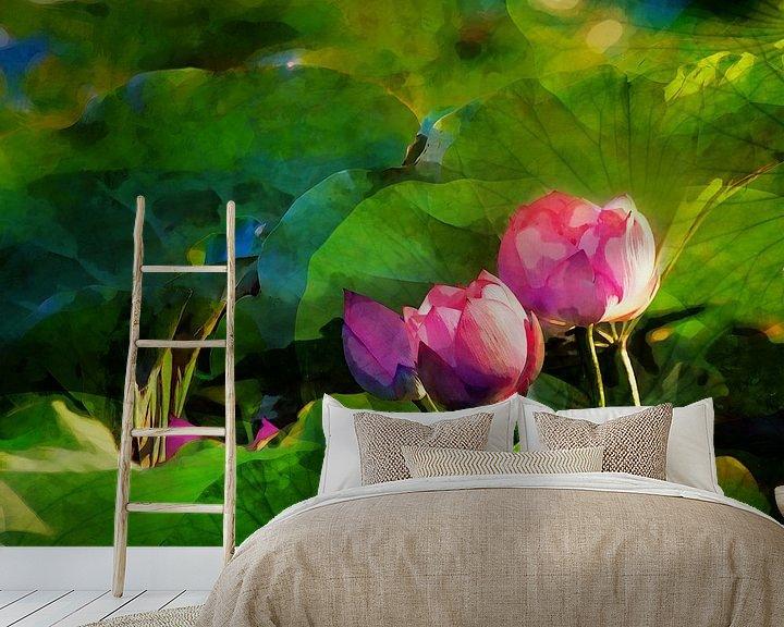 Beispiel fototapete: Water lilys 2021 von Andreas Wemmje