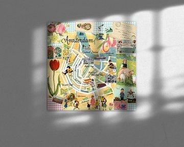 Amsterdam Collage von Green Nest