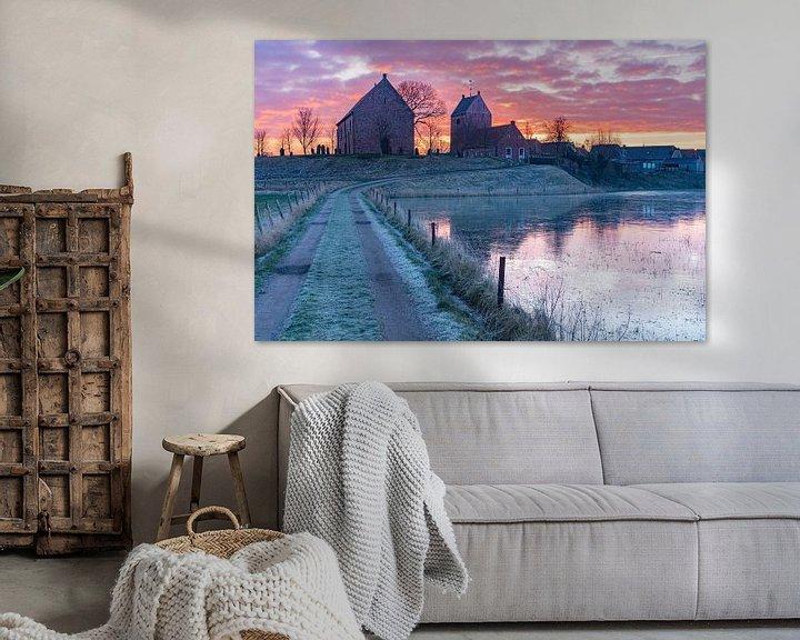 Sfeerimpressie: Een koude ochtend in Ezinge van Ron Buist