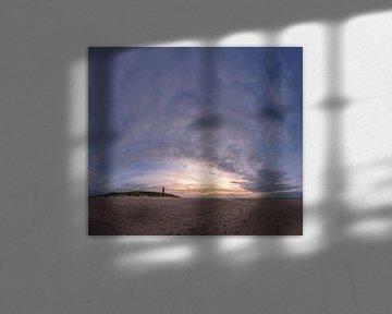 Texel Vuurtoren zonsondergang xxl van Texel360Fotografie Richard Heerschap