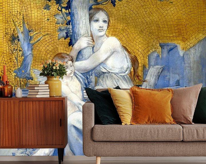 Beispiel fototapete: Göttin in Gold von Mad Dog Art