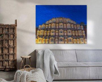 Het Paleis van de Winden in Jaipur, India van Shanti Hesse