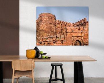 Rode Fort in Agra van Shanti Hesse