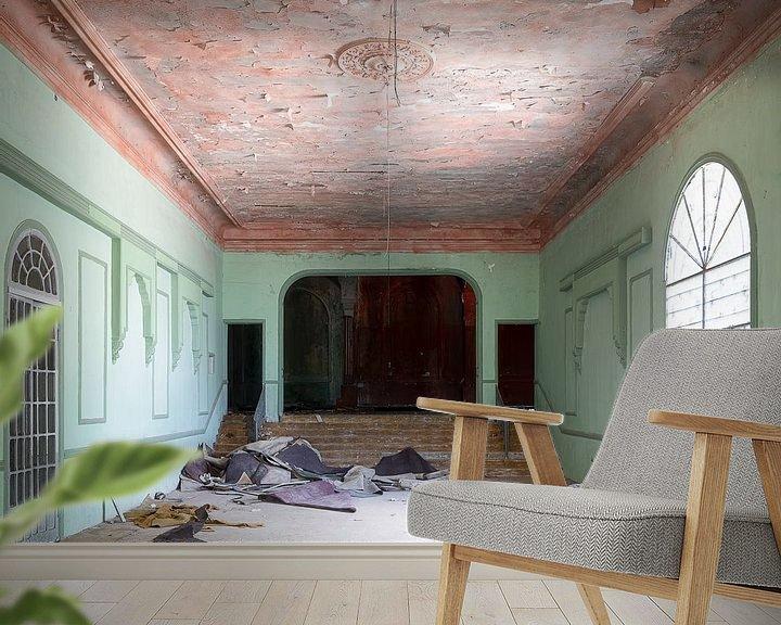 Beispiel fototapete: Verlassenes Hotel im Libanon. von Roman Robroek