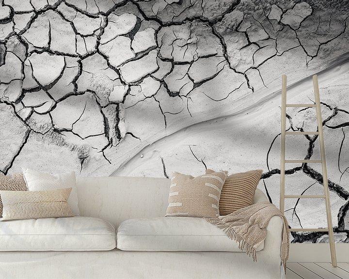 Beispiel fototapete: Trockene rissige Erde in Hverir Island von Michèle Huge