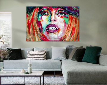 "Brigitte Bardot ""Visage van Kathleen Artist Fine Art"