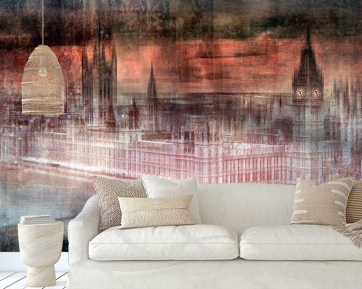 Sfeerimpressie behang: Digital-Art LONDON Westminster II van Melanie Viola