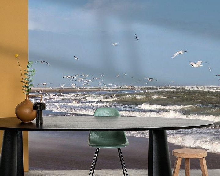 Sfeerimpressie behang: Aan de Zeeuwse kust van peter reinders