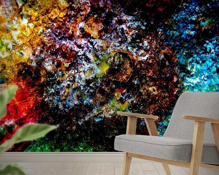 Sfeerimpressie behang: kleurrijk van Dick Jeukens