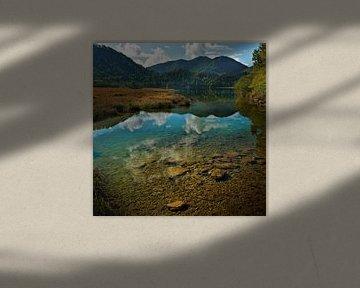Alpenmeer (Weitsee) [Vierkant] van BHotography