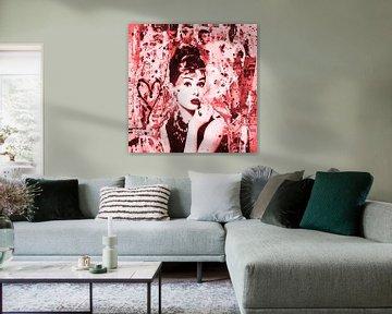 """Audrey Hepburn """"People van Kathleen Artist Fine Art"""