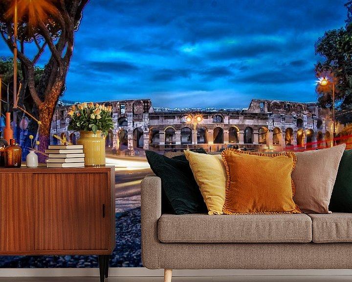 Sfeerimpressie behang: City Lights - Rome in HDR van juvani photo