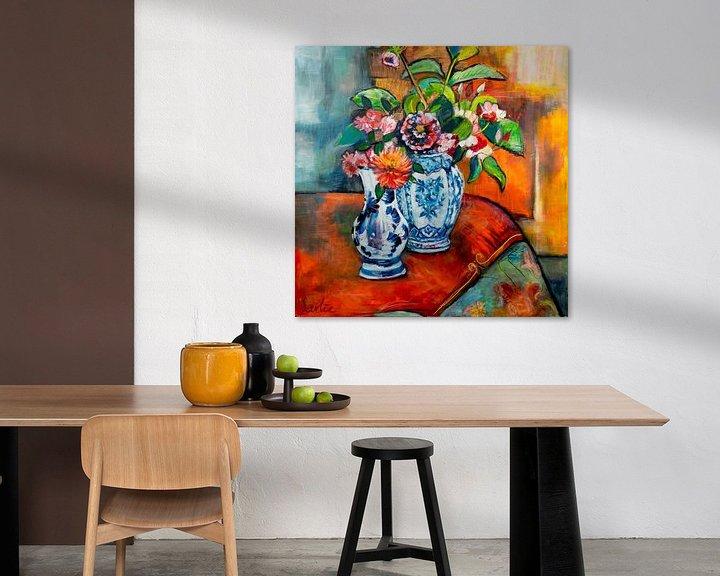 Sfeerimpressie: Bloemen op tafel van Liesbeth Serlie