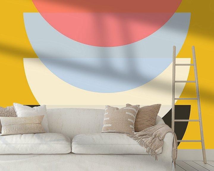 Beispiel fototapete: Schüssel auf Gelb von Patrycja Polechonska