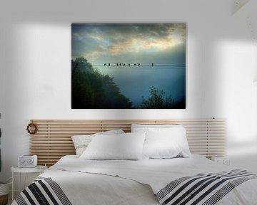 Morgen am Fluss II von Ilona Picha-Höberth