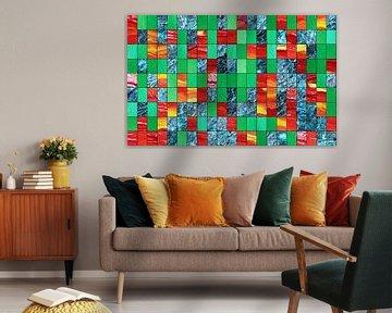 Dekoration grün rot blau van Martin  Uda