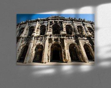 Römisches Amphitheater in Nimes Frankreich von Dieter Walther