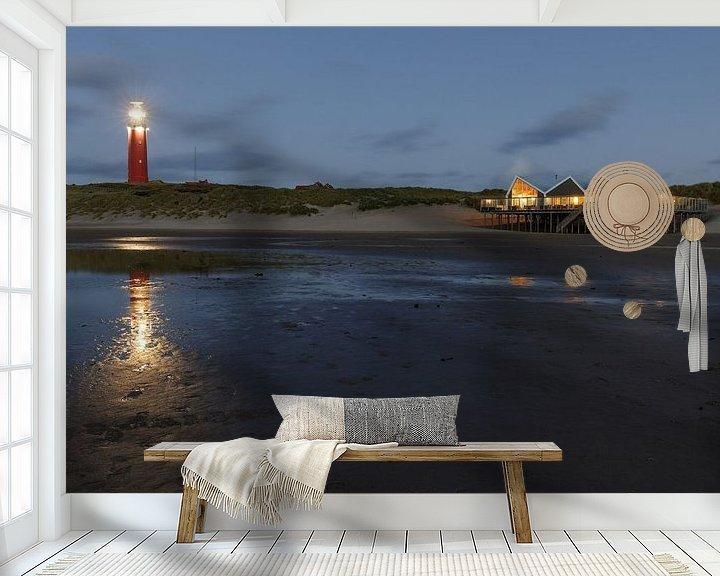 Beispiel fototapete: Leuchtturm Texel, Mast 31. von Anjo ten Kate