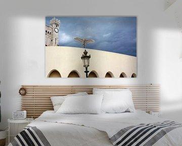 Stenen Vogel op Muur van Koninklijk Paleis Monaco van e-STER design