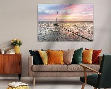 Schöner Sonnenaufgang in Roelshoek von Jan Poppe