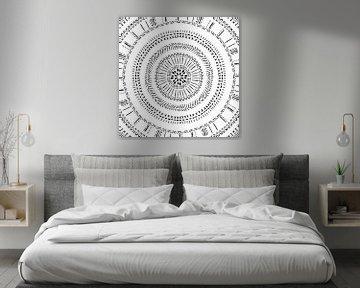 Modern minimalistisch boho - Afrikaanse native print van Studio Hinte