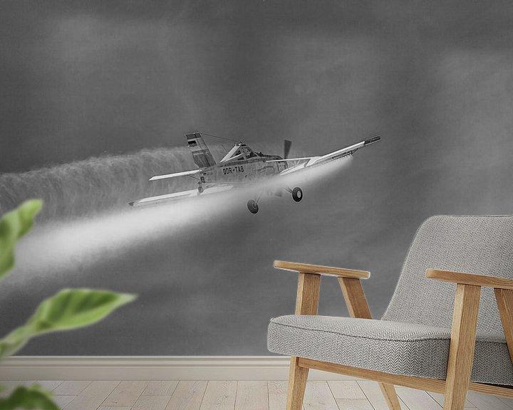 Beispiel fototapete: PZL-106 Kruk im Einsatz in schwarzweiß von Tilo Grellmann | Photography