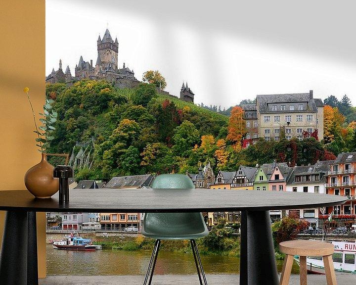 Sfeerimpressie behang: Cochem on the Moselle van Gisela Scheffbuch