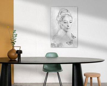 Innerer Frieden / schwarz-weiß Version
