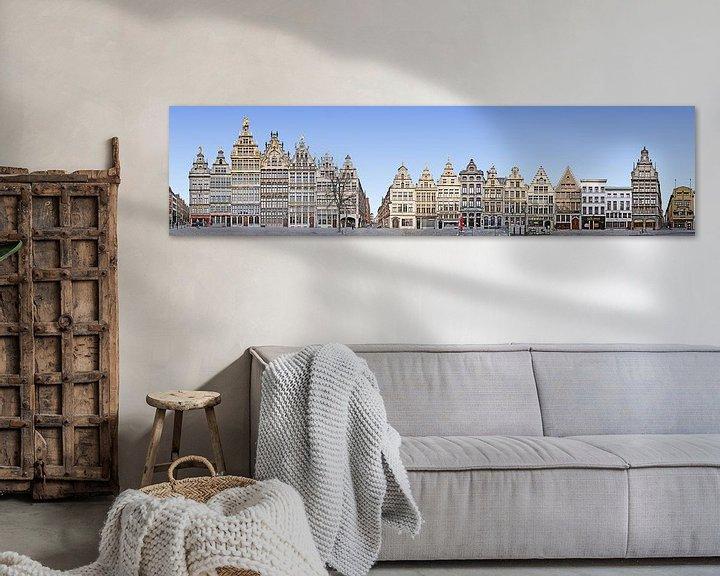 Sfeerimpressie: Antwerpen Grote Markt Panorama van Panorama Streetline