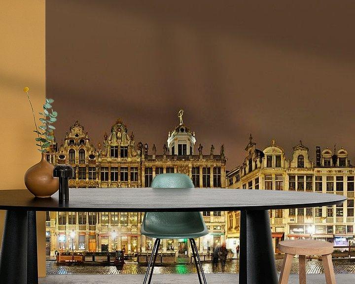 Sfeerimpressie behang: Grote Markt van Brussel Panorama van Panorama Streetline