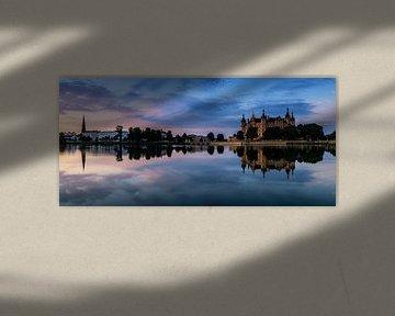 Schwerin Skyline Panorama im Sonnenuntergang
