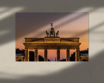 Brandenburger Tor im Sonnenuntergang von Frank Herrmann
