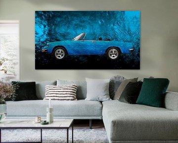 "Alfa Romeo Spider ""Coda Tronca"" Art Car in blue"
