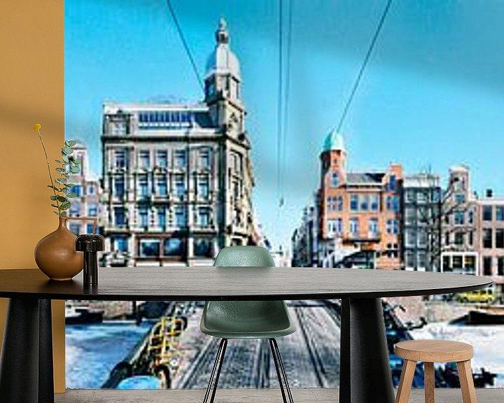 Sfeerimpressie behang: Amsterdam Keizersgracht Panorama van Panorama Streetline